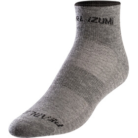 PEARL iZUMi Chaussettes en laine mérinos Femme, smoked pearl core